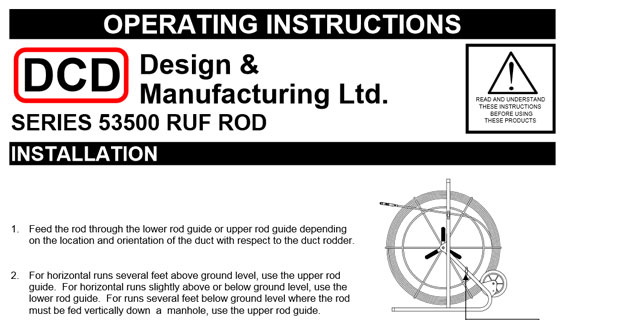 Ruf Rod (53500) Operating Instructions