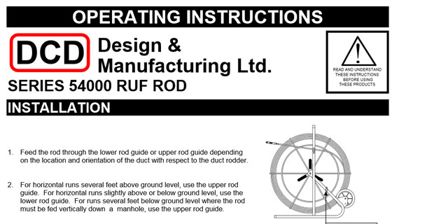 Ruf Rod (54000) Operating Instructions