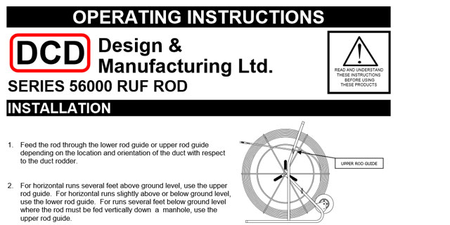 Ruf Rod (56000) Operating Instructions