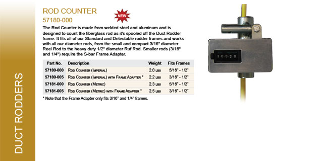 Duct Rod Counter Catalog