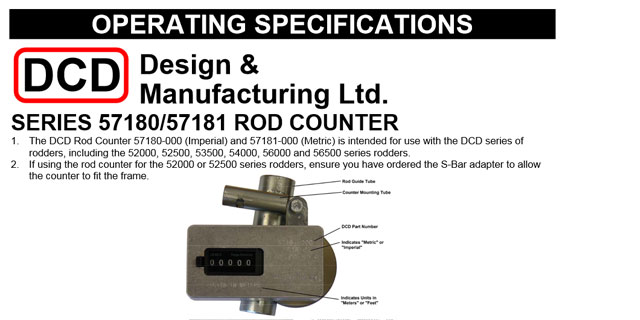 Duct Rod Counter Operating Instructions