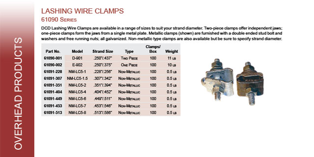 Overhead Tools Wire Lashing Dcd Products