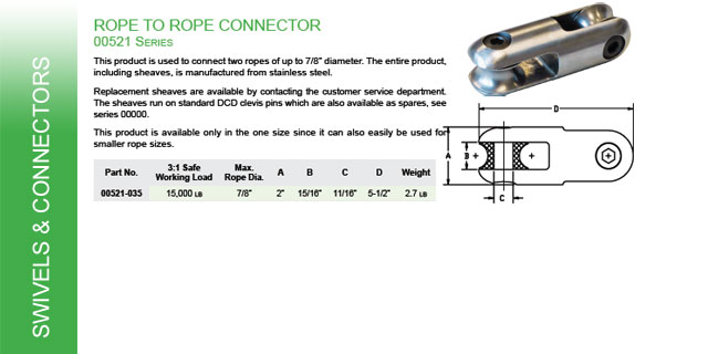 Rope to Rope Connector Catalog