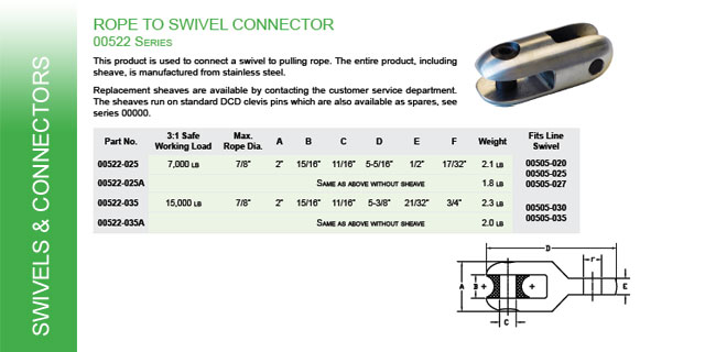 Rope to Swivel Connector Catalog